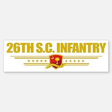 26th SC Infantry (flag 10) pocket Bumper Bumper Sticker