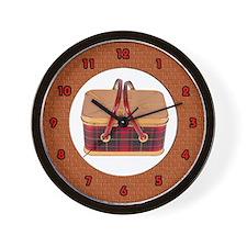 picnic basket Wall Clock