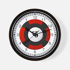 poker chip wallclock Wall Clock