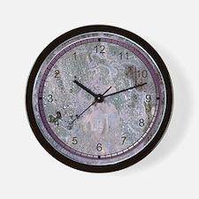 purple marble Wall Clock