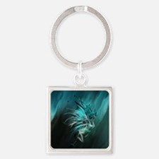 Fractal Water Square Keychain