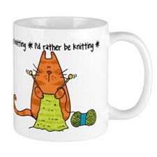 Rather be knitting Small Mugs
