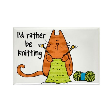 Rather be knitting Rectangle Magnet (10 pack)