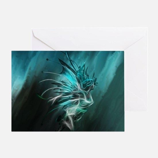 Fractal Water Greeting Card