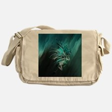 Fractal Water Messenger Bag