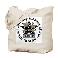 Army Stars Love Support Dad Tote Bag