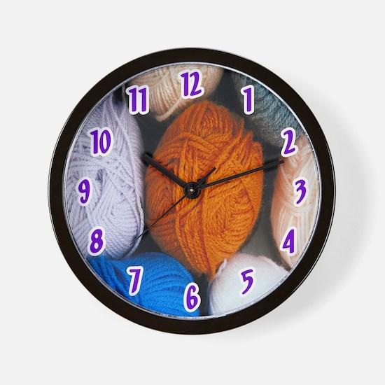 yarn Wall Clock