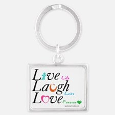 life_quotes_graphics_01.gif Landscape Keychain
