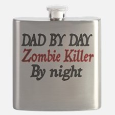 dad by day zombie killer by night Flask