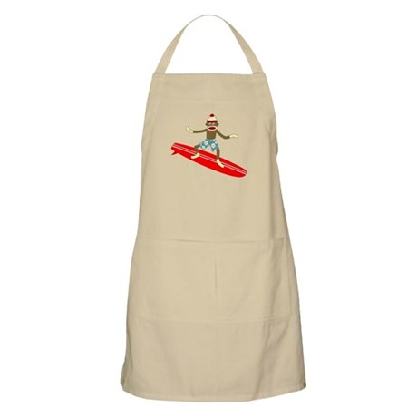 Sock Monkey Longboard Surfer Apron