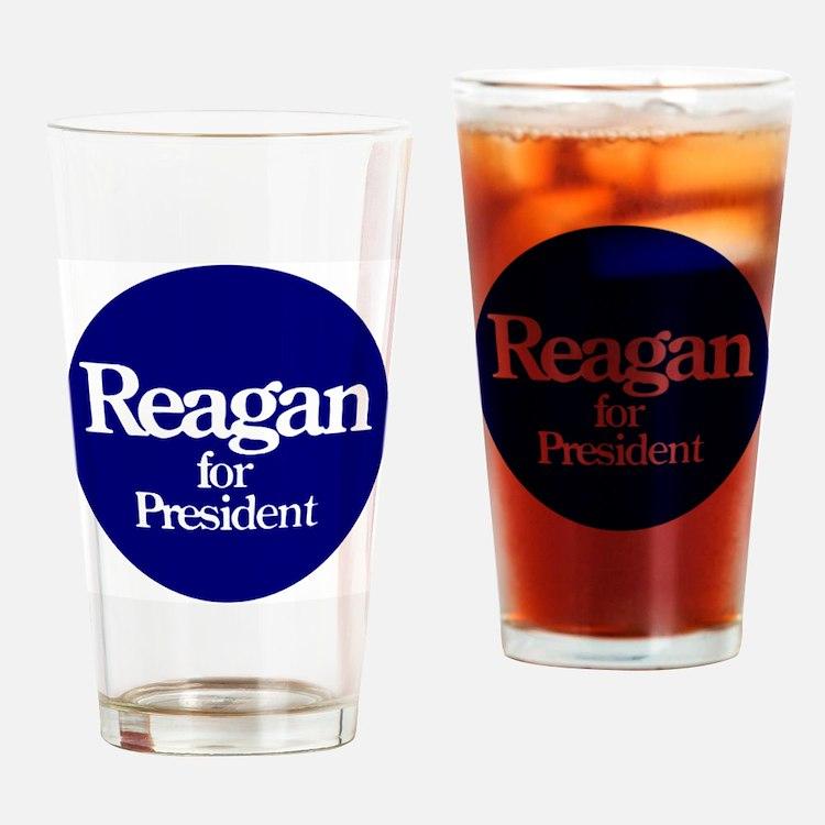 Reagan-button Drinking Glass