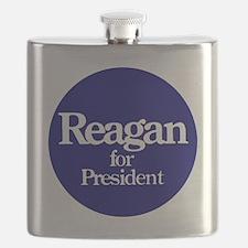 Reagan-button Flask