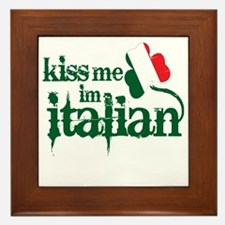 kiss-me-italian-vintage-color.gif Framed Tile
