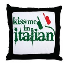 kiss-me-italian-vintage-color.gif Throw Pillow