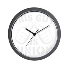 thisGUyisUNION-Wht Wall Clock