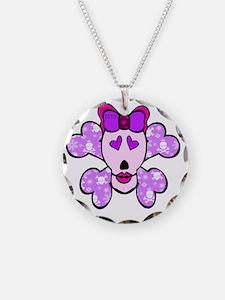 skull_crossbones_pink Necklace