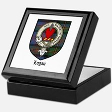 Logan Clan Crest Tartan Keepsake Box