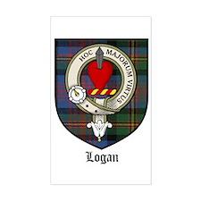Logan Clan Crest Tartan Rectangle Decal