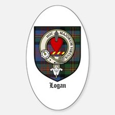 Logan Clan Crest Tartan Oval Decal