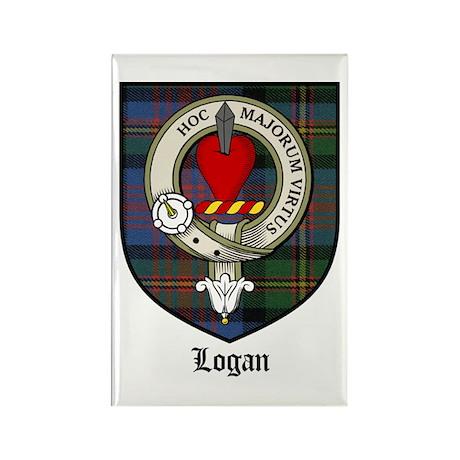 Logan Clan Crest Tartan Rectangle Magnet (10 pack)