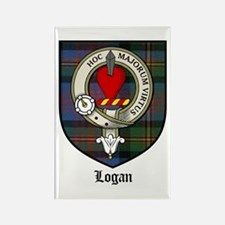 Logan Clan Crest Tartan Rectangle Magnet (10 pack)