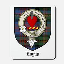 Logan Clan Crest Tartan Mousepad