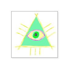 "Illu3inati Square Sticker 3"" x 3"""