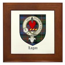 Logan Clan Crest Tartan Framed Tile
