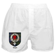 Logan Clan Crest Tartan Boxer Shorts