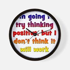 positive-thinking2 Wall Clock