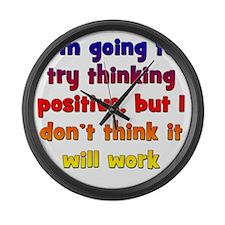 positive-thinking2 Large Wall Clock