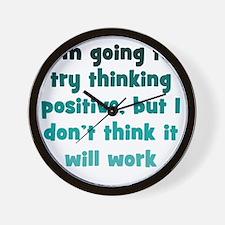 positive-thinking1 Wall Clock
