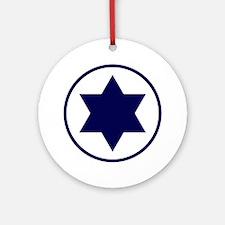 Israel Round Ornament
