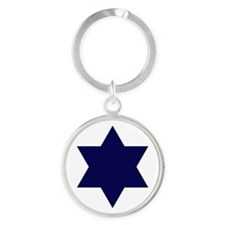 Israel Round Keychain