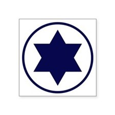 "Israel Square Sticker 3"" x 3"""