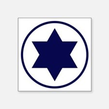 "Israel Square Sticker 3"" x 3"""