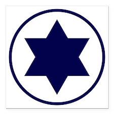 "Israel Square Car Magnet 3"" x 3"""