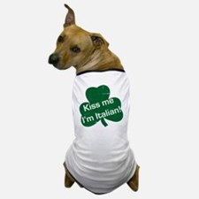 Kiss-me-I-am-italiam-simple-whit.gif Dog T-Shirt