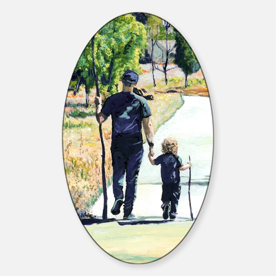 Fathers Day Gift By RD Riccoboni Sticker (Oval)