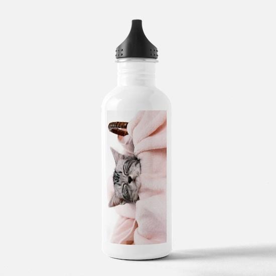 kitty basket journal Water Bottle