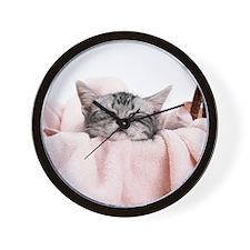 kitty basket shirt Wall Clock