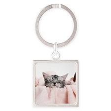 kitty basket shirt Square Keychain