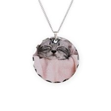 kitty basket slider Necklace
