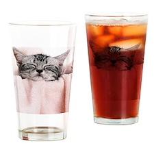 kitty basket slider Drinking Glass