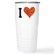 heart bball Travel Mug