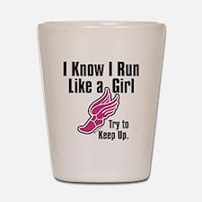 run like a girl Shot Glass