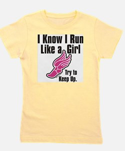 run like a girl Girl's Tee