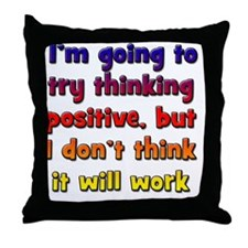 positive-thinking_tall2 Throw Pillow