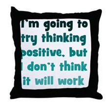 positive-thinking_tall1 Throw Pillow