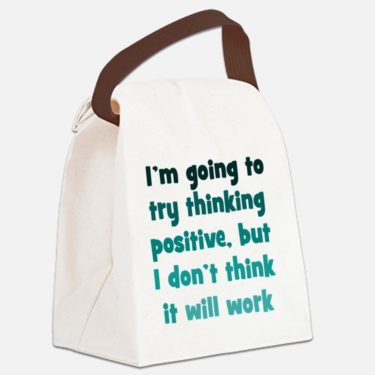 positive-thinking_tall1 Canvas Lunch Bag